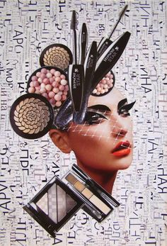Fashion Collage Design Faces New Ideas Makeup Collage, Face Collage, Collage Portrait, Collage Art, Create Collage, Collage Ideas, Magazine Collage, Magazine Art, Fashion Collage