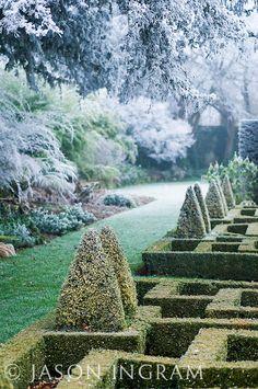Bourton House Garden in winter