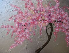 cherry blossom tree trees large abstract art zen by SheerJoy, $250.00