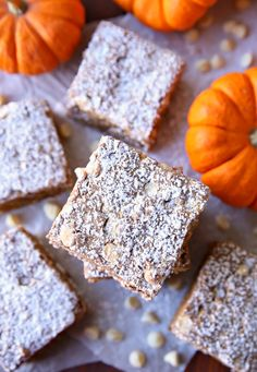 These Gooey Butter Pumpkin Bars are the best pumpkin bars I've ever had! They're soft and full of pumpkin flavor - everything you want in a pumpkin dessert. Pumpkin Bars, Best Pumpkin, Pumpkin Dessert, Pumpkin Spice, Holiday Treats, Holiday Recipes, Fun Desserts, Dessert Recipes, Spice Cake Mix