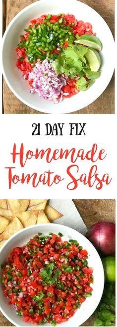 21 Day Fix Homemade Salsa  21 Day Fix Pico De Gallo