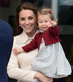 Duchess Catherine and Princess Charlotte. 1-10-2016