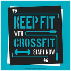 Crossfit background with start quote Free Vector