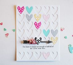 One Heart Card by Danielle Flanders for Papertrey Ink (December 2013)