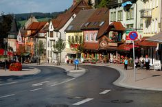 Triberg, Germany --famous for cookoo clocks. Near the Black Forest--Lynsie & Alan photo.