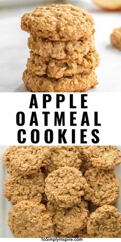 Apple Oatmeal Cookies are a deliciously chewy, healthy cookie loaded with all the fall flavors of oats, fresh apples, and cinnamon! Oatmeal Apple Cookies, Apple Cinnamon Oatmeal, Healthy Oatmeal Cookies, Oat Cookies, Oat Cookie Recipe, Oatmeal Cookie Recipes, Brunch Recipes, Breakfast Recipes, Dessert Recipes