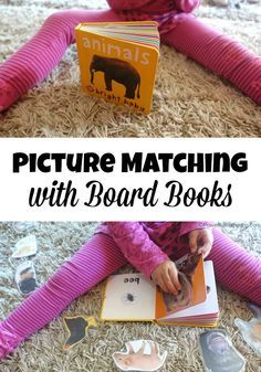 Children gain fine motor skills taking off the laminated images and placing them back and they also get to practice their matching skills. These also make a great busy bag or quiet time activity. Quiet Time Activities, Kids Learning Activities, Infant Activities, Fun Learning, Learning Tools, Teaching Ideas, Toddler Books, Toddler Play, Busy Bags