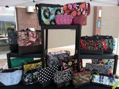 A shape, a size, a color for everyone! If you come accross a #TooCuteTotes booth or visit the TCT store in Fallon, NV, there is a wide array of ready-made bags for you to purchase right away. Your TCT Design Consultant can also sell you any of the bags in her kit if you fall in love with one! (Retail and kit sales do not apply in California. You must place an order.) #handbagaholic #handbags #totes #purses #wallets