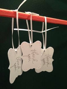 Customized Thank You Favor Tags.... www.thefinaltouchevents.com