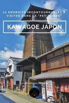 """Kawagoe Japon  - 10 Endroits incontournables à visiter dans la """"Petite Edo""""  #Kawagoe #Japon #Tokyo #Voyage #Visite #Asie #AsianWanderlust Tokyo Travel, Tokyo Trip, Kyoto, Japon Tokyo, Japan Destinations, Les Continents, Le Havre, Saitama, Blog Voyage"""