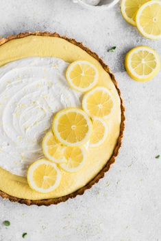 This Gluten Free Vegan Lemon Tart is a fresh, vibrant, and creamy dessert, perfect for your Easter gathering! Almond flour crust, a zesty cashew filling, and coconut whipped cream makes for one irresistible vegan dessert! #easterdessert #healthydessertrecipes #lemontart #vegan #glutenfree #vegandessert #easterrecipes #springdessert