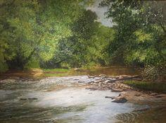 """Tom Neel, """"Goose Creek"""", Oil on canvas on panel, 24"""" x 36"""""""