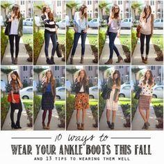 Love, Lenore: how to wear booties