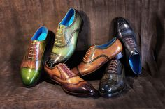 Dominique Saint Paul - hand coloured shoes - the fall collection