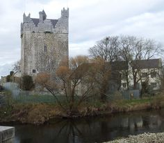 The newly restored tower of Claregalway castle beside the River Clare in the Gaeltacht village of Claregalway, Co. The castle was built by the Clanrickard Burkes in the century and has been undergoing restoration since Castles In Ireland, Ireland Homes, Beautiful Castles, Beautiful Places, Places Around The World, Around The Worlds, Scottish English, Fantasy Castle, Medieval Castle