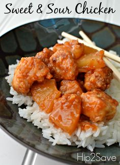Sweet & Sour Chicken Recipe by Hip2Save (It's Not Your Grandma's Coupon Site)