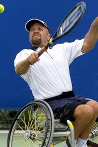 adapted sports: this would be good for someone who needs work with their wrist/arm strength. this could be adapted by letting the tennis ball bounce more than once to allow the person using the wheelchair to get to the ball. Handicap Accessible Home, Adaptive Sports, Sports Organization, Spinal Cord Injury, Tennis Tips, Aging In Place, Tennis Elbow, Basketball, Sports Activities