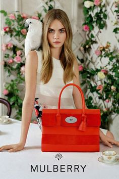 Fashion's darling, Cara Delevingne is giving us 'dreamy chic' when posing for the Spring/Summer 2014 campaign of Mulberry photographed by the imaginative mind of Tim Walker. Get carried away into Mulberry's land of romanticism and fantasy. Tim Walker, Spring 2014, Summer 2014, Spring Summer, Fashion Advertising, Advertising Campaign, Fashion Marketing, Donna Karan, Vogue Portugal