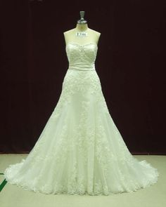 Custom Bridal Gown Dress with French Lace by WeddingDressFantasy, $739.00