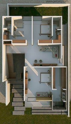 9 Ways to Take a Bed Room in Your Small Apartment Modern House Plans, House Floor Plans, Villa Design, House Design, Houston Apartment, 2 Bedroom House Plans, 1 Bedroom Apartment, House Windows, House Layouts