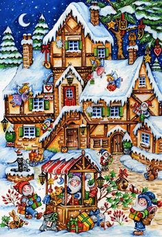 Christmas Market Kid's Jigsaw Puzzle, Christmas - Fun & Other: Vermont Christmas Company Christmas Jigsaw Puzzles, Jigsaw Puzzles For Kids, Christmas Puzzle, 100 Piece Puzzles, Christmas Puppy, Christmas Town, Merry Christmas To All, The Night Before Christmas, A Christmas Story