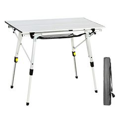 PORTAL Outdoor Folding Portable Picnic Camping Table with Adjustable Height Aluminum Roll Up Table Top Mesh Layer *** Details can be found by clicking on the image. (This is an affiliate link) Camping Kitchen Set Up, Table Camping, Folding Camping Table, Camping Chairs, Diy Camping, Tent Camping, Glamping, Outdoor Folding Table, Outdoor Picnic Tables