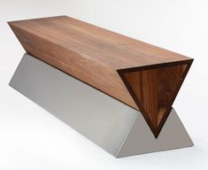 A small section of the this would make a nice SP base. Obbligato timber X bench . A small section Art Furniture, Cheap Furniture, Contemporary Furniture, Furniture Design, Furniture Plans, Concrete Bench, Concrete Furniture, Wooden Furniture, Cement