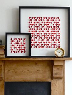 paper hearts.