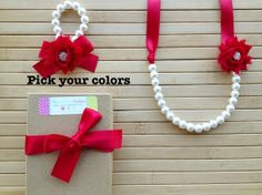 Sparkly custom shabby chic jewelry set - red - pick your colors -  by MissSweetPeaBoutique, $23.00
