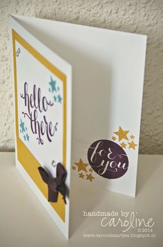 BLOGHOP - Hello There Be the Star Card inside Stampin' Up! Hello There Point & Click On Film framelits
