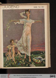 Jugend magazine cover, 1918: Münchner illustrierte Wochenschrift für Kunst und Leben (1918, Band 1 (Nr. 1-26))