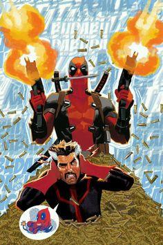 Deadpool and Dr.strange Art by Daniel Acuna