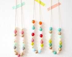 Layering Pastel Beaded Strand Necklace by NestPrettyThingsShop