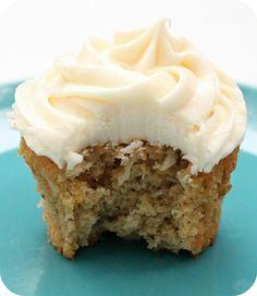 vegan lemon coconut zucchini cupcakes and lemon cream cheese frosting