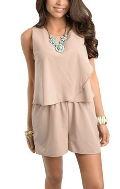 Taupe romper - $22 shipped www.facebook.com/sweetlaundryboutique