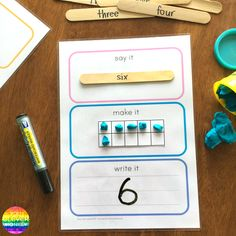 Say It Make It Write It For Maths - how to use this FREE printable to represent numbers 1-20 using ten frames | you clever monkey