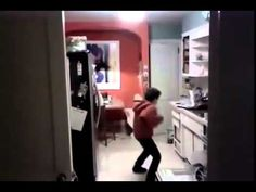 Kid Gets Caught Dancing To Michael Jackson While Doing Dishes