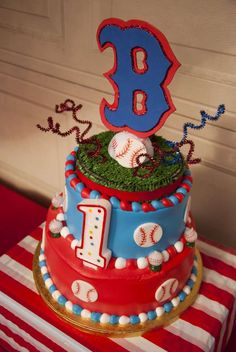 Double Layer Baseball Cake for ashleighs birthdaychoice 1
