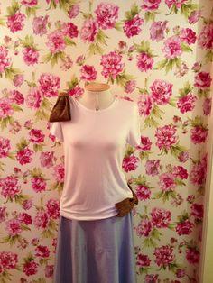 Camiseta de malha de bambu com laços de lurex.