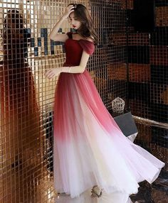 long prom dresses - Unique burgundy off shoulder tulle long prom dress, burgundy evening dress Fall Formal Dresses, Unique Dresses, Modest Dresses, Pretty Dresses, Beautiful Dresses, Burgundy Evening Dress, Burgundy Dress, Cheap Prom Dresses Online, Evening Dresses Online