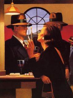 The Twilght Zone - Jack Vettriano The Twilight Zone original painting was featured at the 1995 exhibition A Date With Fate. You can find this image and many more paintings by Jack Vettriano in his book Lovers & Other Strangers Jack Vettriano, Edward Hopper, The Singing Butler, Pin Up, Most Popular Artists, Couple Painting, Photo Images, Les Oeuvres, Twilight