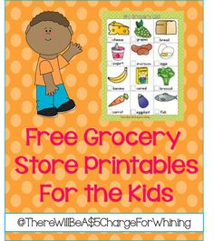FREE Grocery Store Printables for the Kiddos- scavenger hunt Dramatic Play Area, Dramatic Play Centers, Free Preschool, Preschool Themes, Preschool Centers, Pretend Grocery Store, Play Market, Grocery List Printable, Creative Curriculum