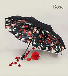 Automatic UmbrellaCAMTOA Flowers Automatic Foldable Umbrella  Compact Travel Umbrella with Windproof Lightweight Starry and Blossom Umbrella  Sun UV ProtectionDouble Use in Sunny Rainy Day * Read more reviews of the product by visiting the link on the image. (Note:Amazon affiliate link)