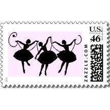 Ballet merchandise postage stamp