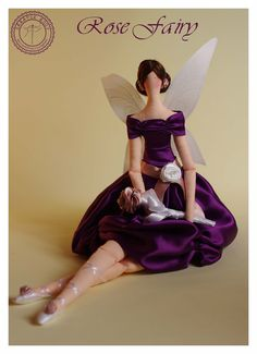 Rose Fairy - Beautiful handmade Fairy in Tilda style. zł180,00, via Etsy.