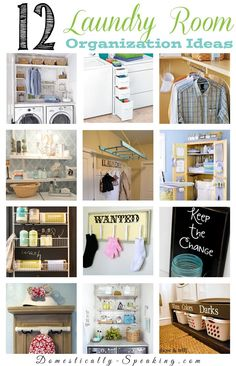 12 Great Laundry Room Organization Ideas with @Domestically Seasoned Seasoned Seasoned Speaking