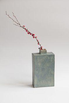 ceramic vase  ceramic bottle  handbuilt handmade vase  by FyoFyo