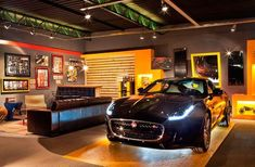 Convert Your Garage into a Man Cave - Man Cave Home Bar Garage Loft, Dream Garage, Car Garage, Garage Boden, Mechanic Garage, Motorcycle Garage, Modern Garage, Custom Garages, Garage Interior