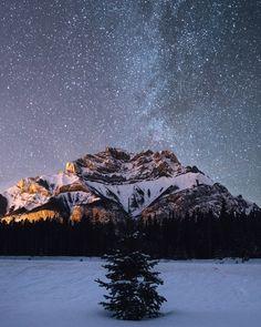 milky way. cascade mountain. banff. alberta, by Tanner Wendell Stewart... #Mountain #Alberta #Banff #Cascade #mountain
