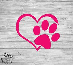 Dog Paw Decal, Dog Pawprint Decal, Pawprint Window Decal, Pawprint Laptop Decal, Pet Decal- You choose size and color. by NerdyNoodle on Etsy https://www.etsy.com/ca/listing/273116948/dog-paw-decal-dog-pawprint-decal